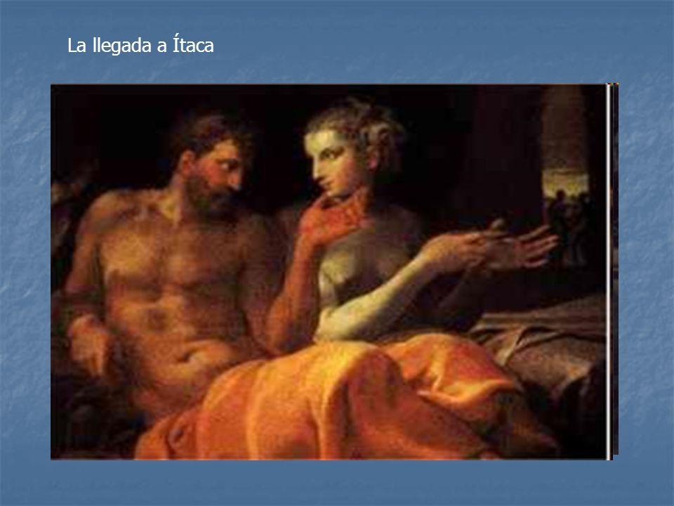 Cuando los pretendientes se van a dormir Telémaco y Ulises esconden las armas. Al día siguiente se organiza una competición ordenada por la propia Pen