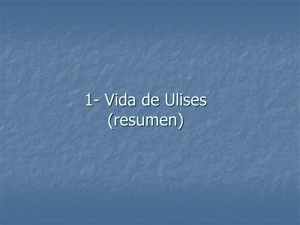 Al partir de Troya, Ulises pierde el rastro de Agamenón y se pierde hasta llegar al país de los Cicones, en Ismaros, donde toman la ciudad pero al final los Cicones no capturados ganan la batalla y Ulises tiene que huir.