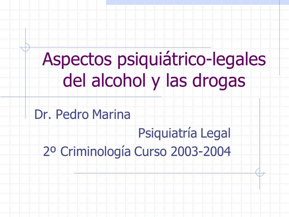 Aspectos psiquiátrico-legales del alcohol y las drogas Dr.