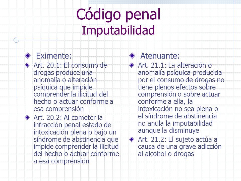 Código penal Imputabilidad Eximente: Art.