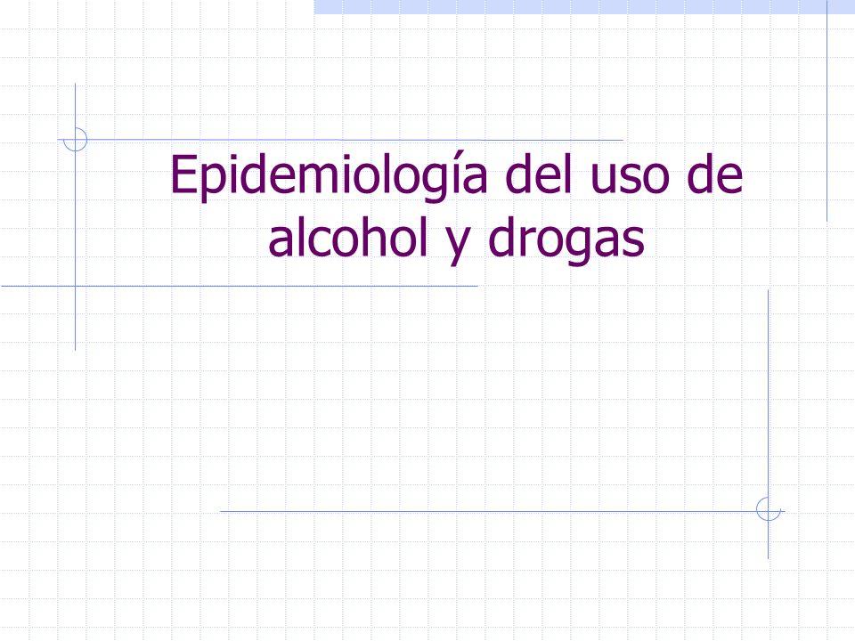 Epidemiología del uso de alcohol y drogas