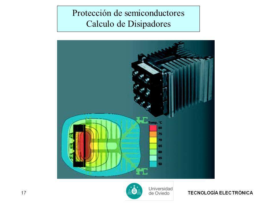 TECNOLOGÍA ELECTRÓNICA17 Protección de semiconductores Calculo de Disipadores