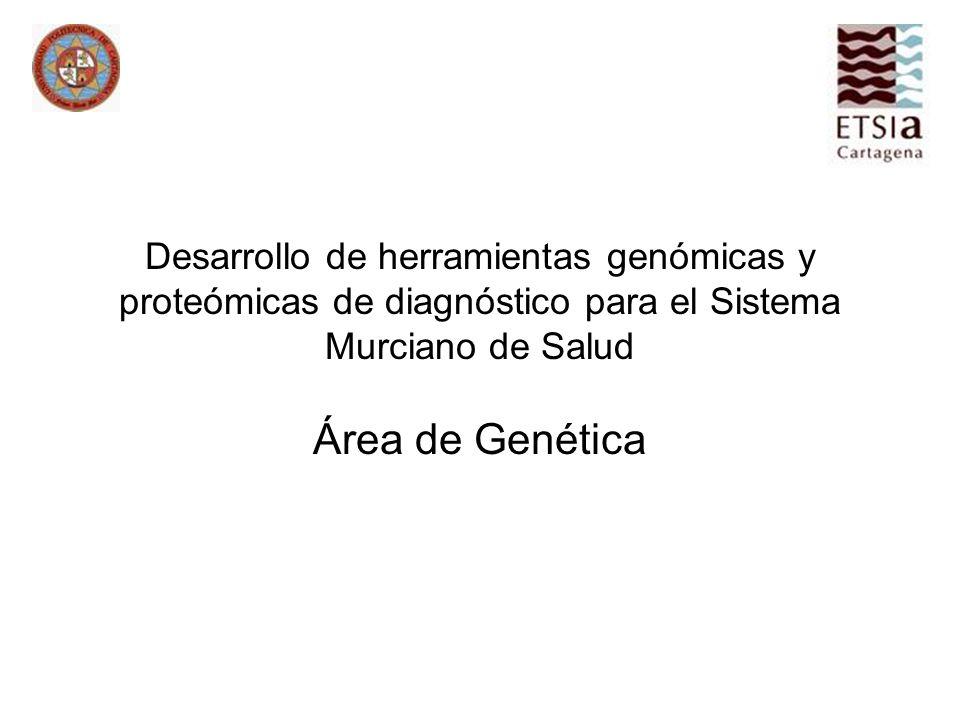 Desarrollo de herramientas genómicas y proteómicas de diagnóstico para el Sistema Murciano de Salud Área de Genética