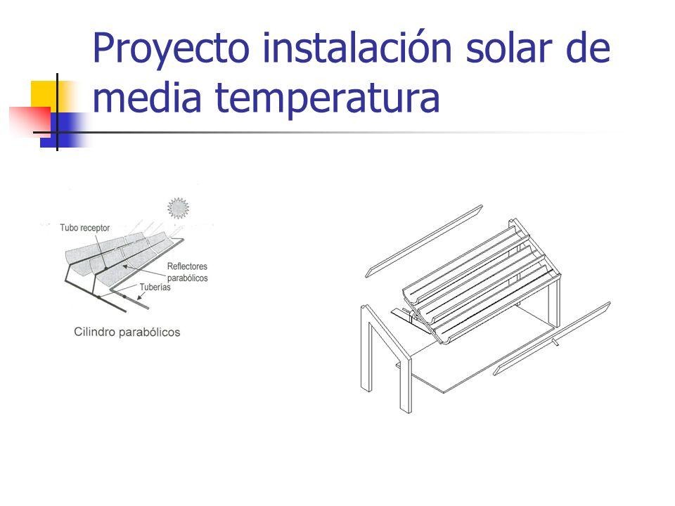 Proyecto instalación solar de media temperatura