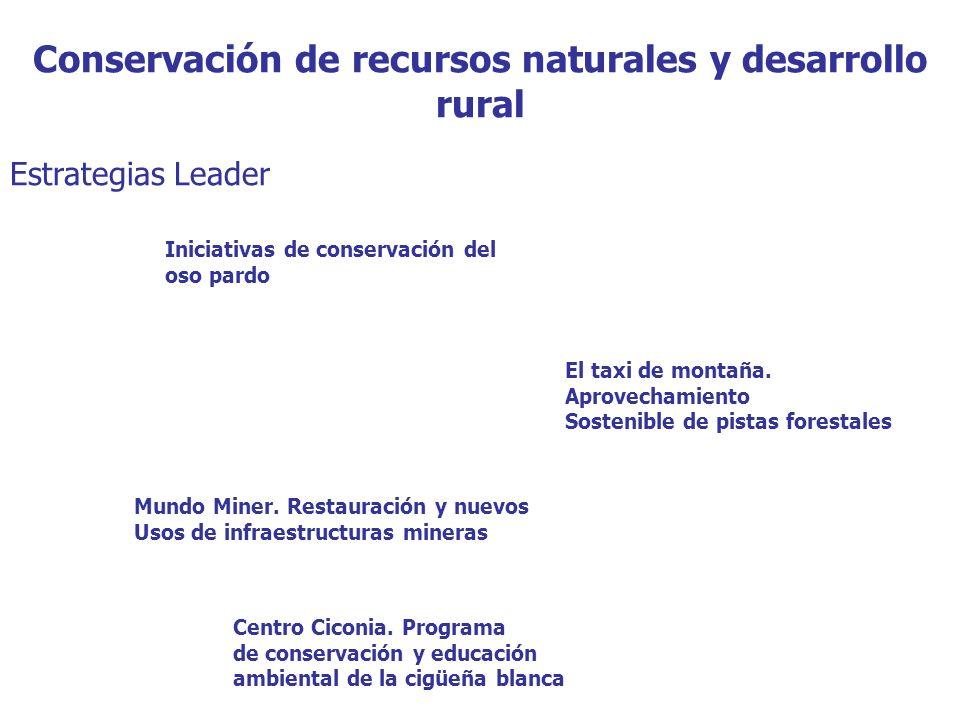 Conservación de recursos naturales y desarrollo rural Estrategias Leader Iniciativas de conservación del oso pardo El taxi de montaña.