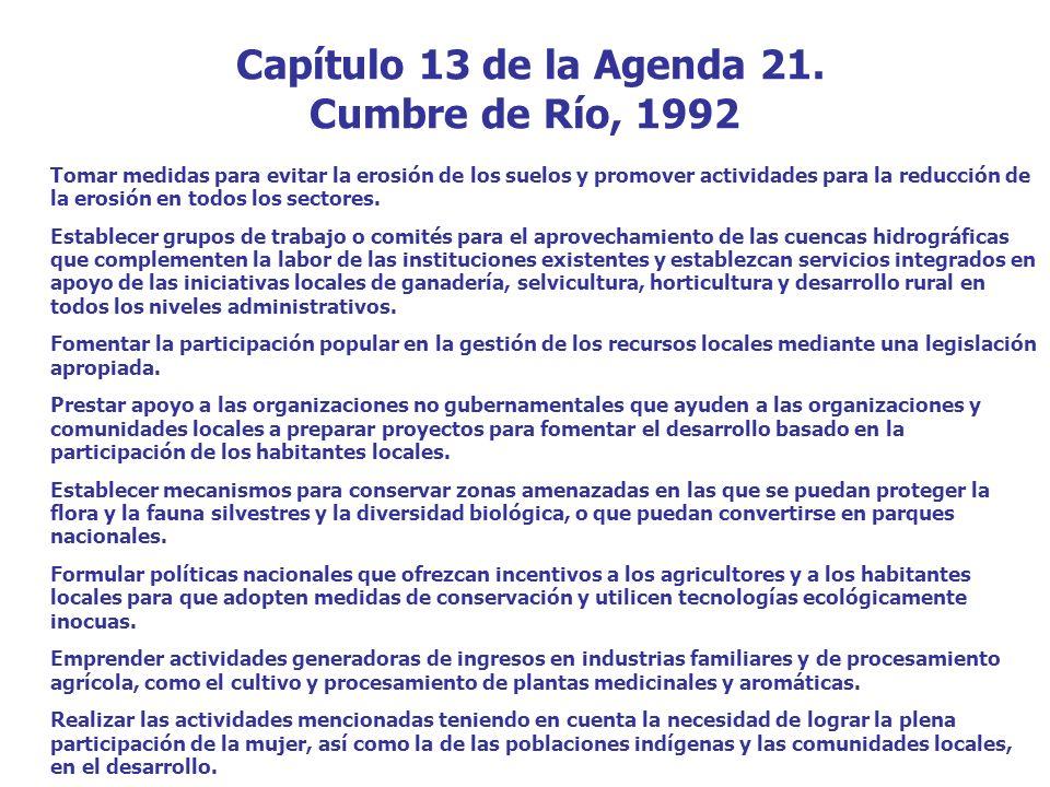 Capítulo 13 de la Agenda 21.