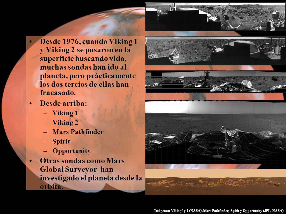 Desde 1976, cuando Viking 1 y Viking 2 se posaron en la superficie buscando vida, muchas sondas han ido al planeta, pero prácticamente los dos tercios