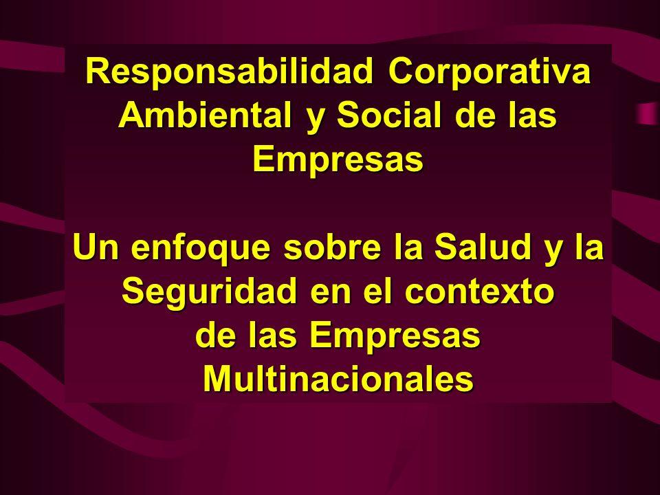 Responsabilidad Corporativa Ambiental y Social de las Empresas Un enfoque sobre la Salud y la Seguridad en el contexto de las Empresas Multinacionales