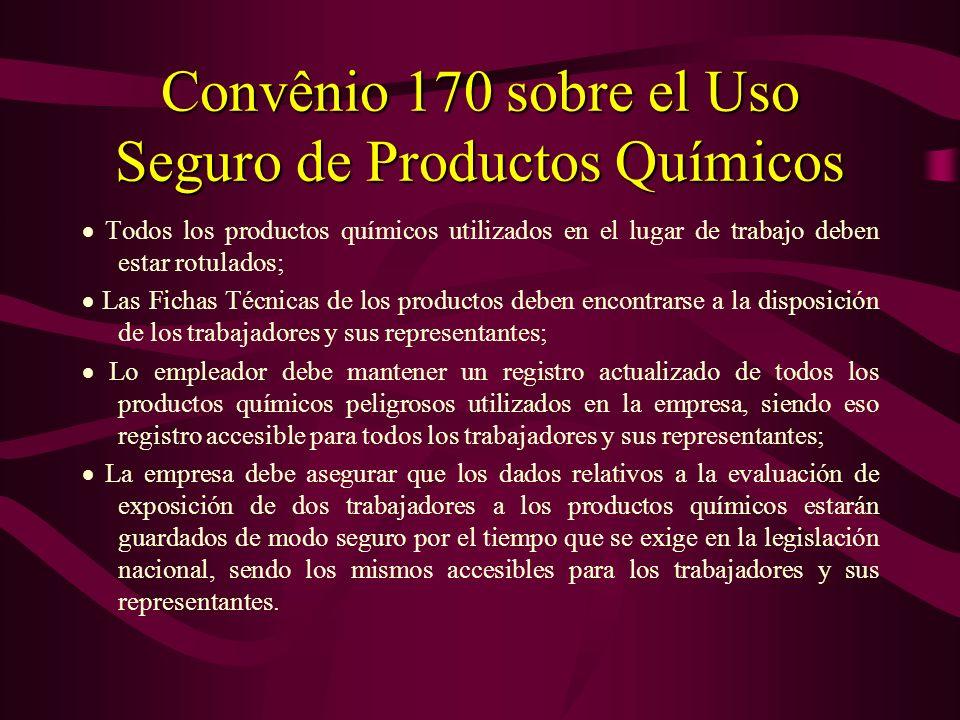 Convênio 155 sobre la Salud y la Seguridad Ocupacional Los representantes de los trabajadores en la empresa deben recibir información adecuada acerca