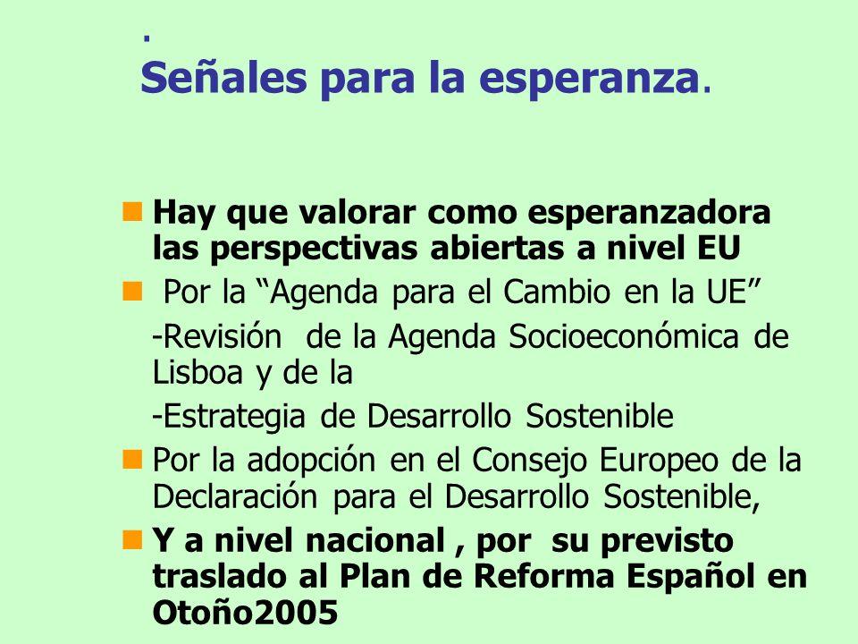 Hitos en las políticas sobre CC 1992-Adopción Convenio UN (180 pais.) Estabilizar EGEI-1990 de PDs en el 2000 (UE!) 1997-Acuerdo Protocolo de Kioto (EGEI.1990,-5 % PDs en 2008-12.