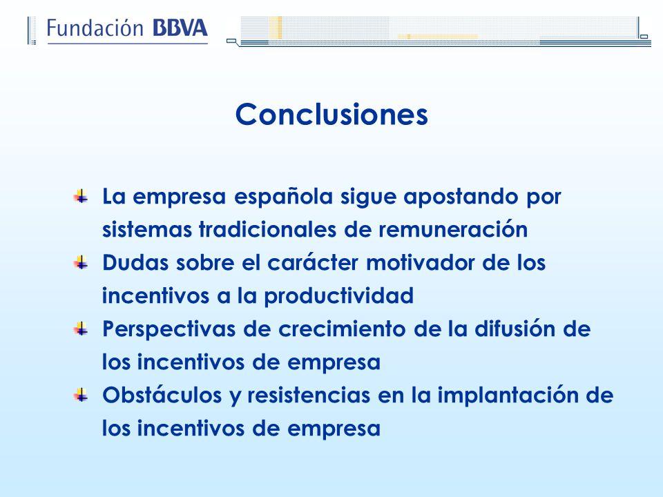La empresa española sigue apostando por sistemas tradicionales de remuneración Dudas sobre el carácter motivador de los incentivos a la productividad