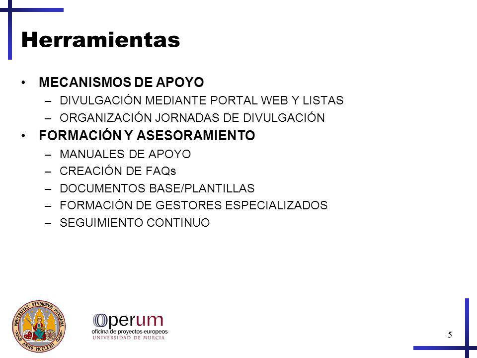 6 Visite http://www.um.es/operum