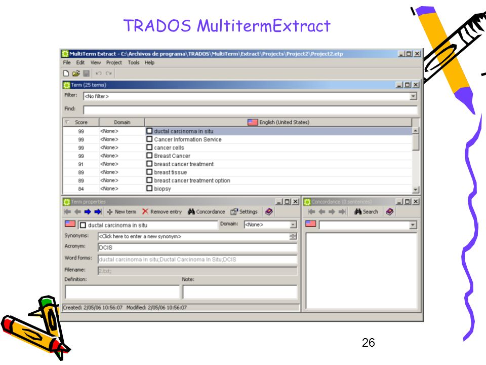 26 TRADOS MultitermExtract