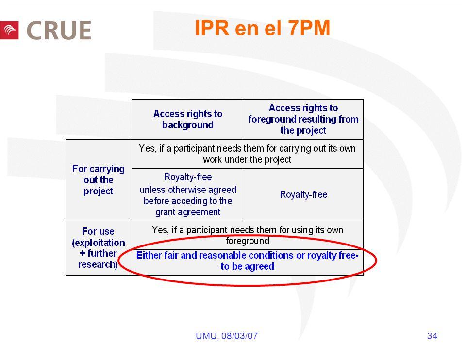 UMU, 08/03/07 34 IPR en el 7PM