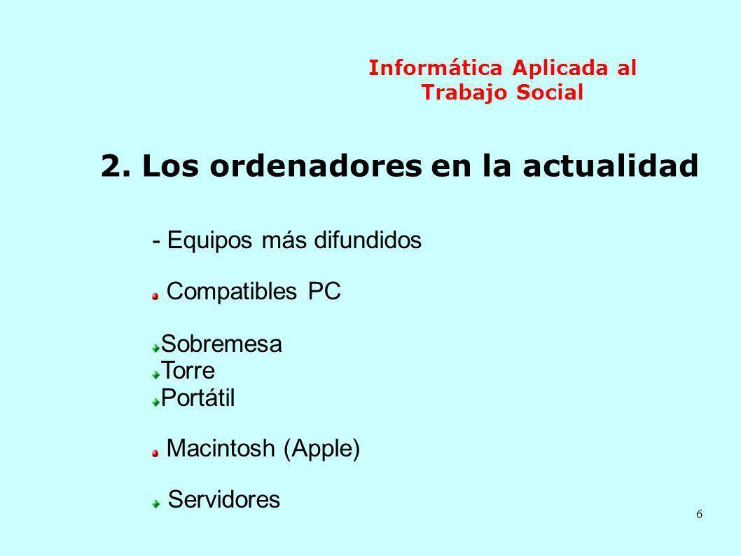 17 Informática Aplicada al Trabajo Social - Protocolos de comunicación Un protocolo define los estándares de comunicación TCP: Transmission Control Protocol IP: Internet Protocol 1,2,3,4 1 2,3,4 3 2,4 1 1 3 4 2 4 4,2