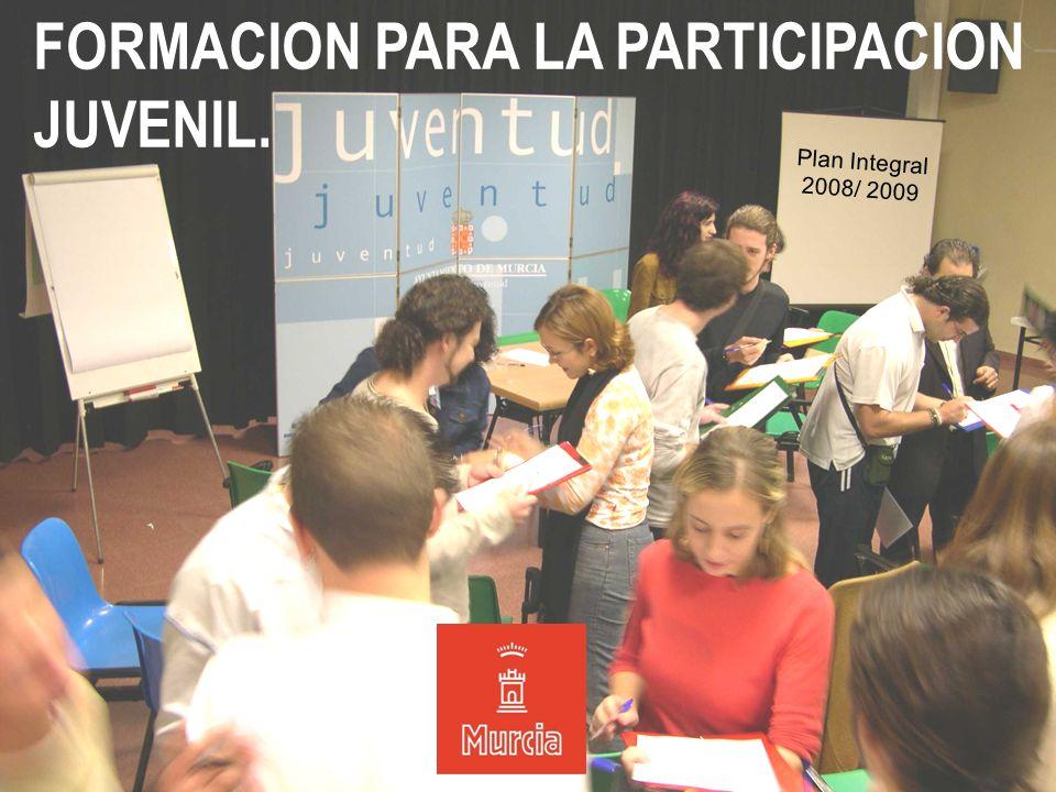 1 FORMACION PARA LA PARTICIPACION JUVENIL. Plan Integral 2008/ 2009