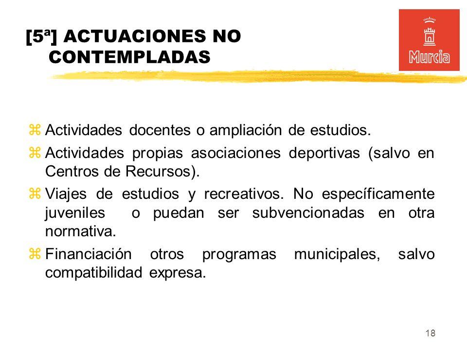 18 Actividades docentes o ampliación de estudios.