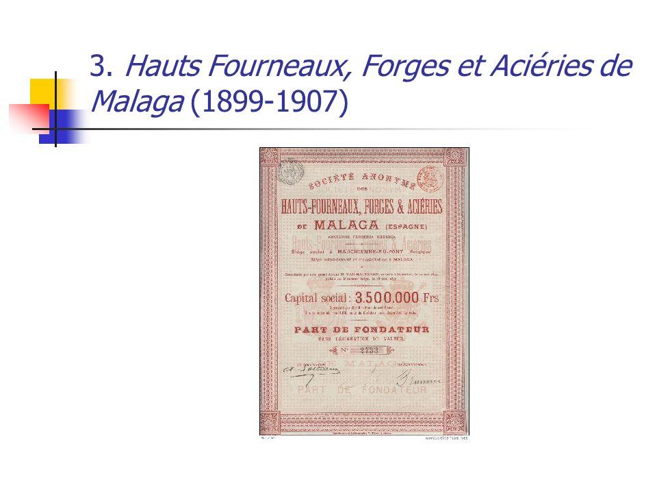 3. Hauts Fourneaux, Forges et Aciéries de Malaga (1899-1907)