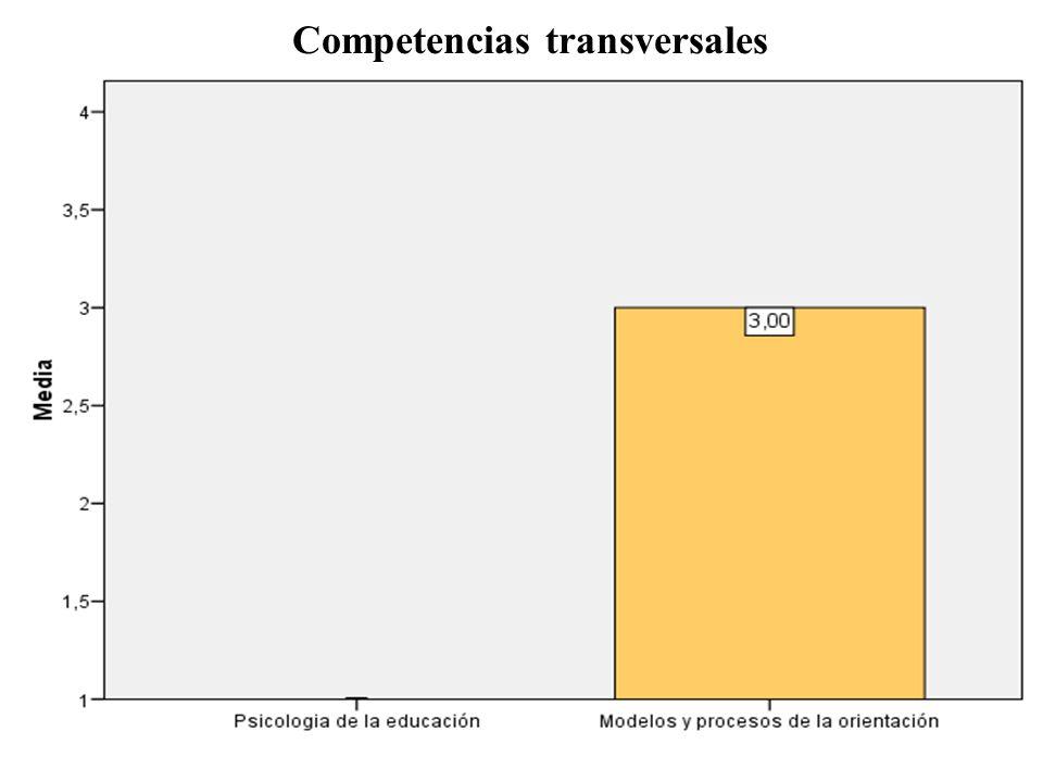 Competencias transversales