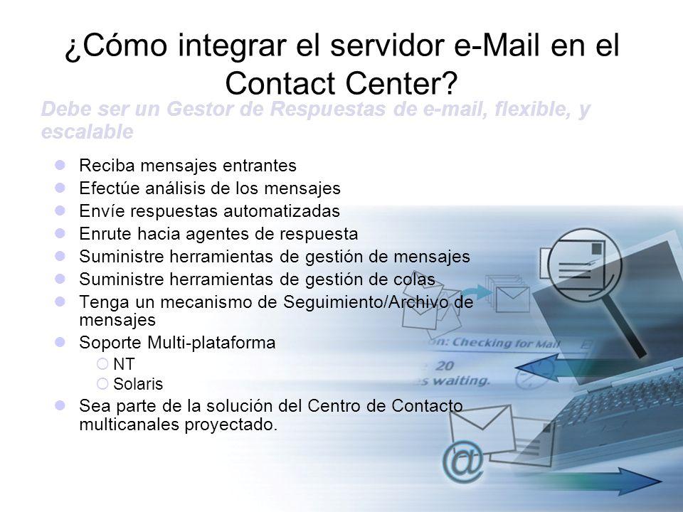 Reciba mensajes entrantes Efectúe análisis de los mensajes Envíe respuestas automatizadas Enrute hacia agentes de respuesta Suministre herramientas de