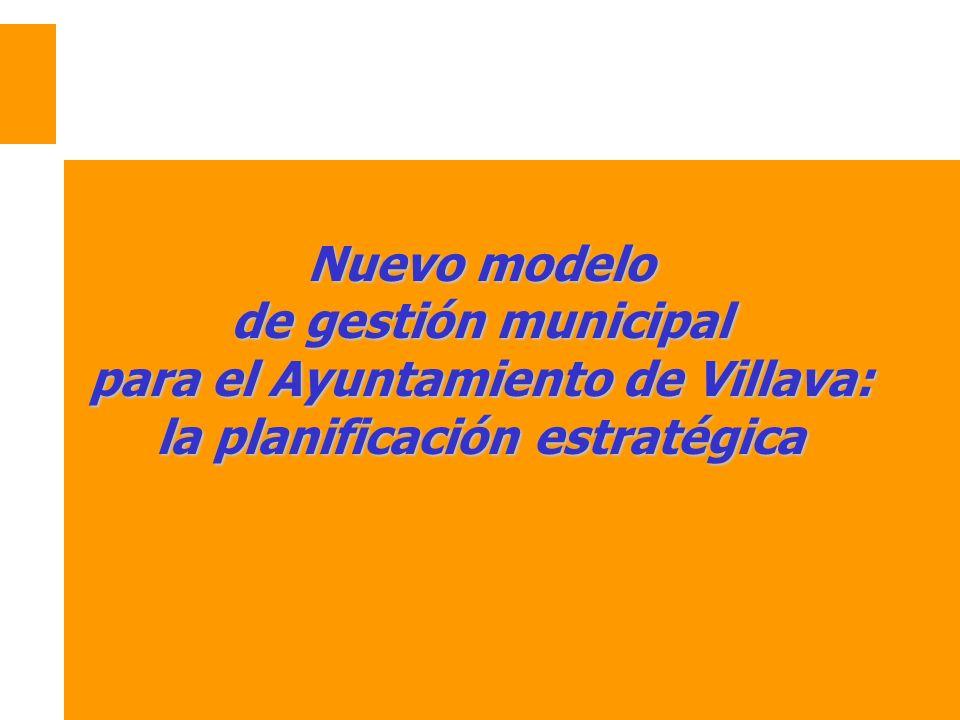Nuevo modelo de gestión municipal para el Ayuntamiento de Villava: la planificación estratégica