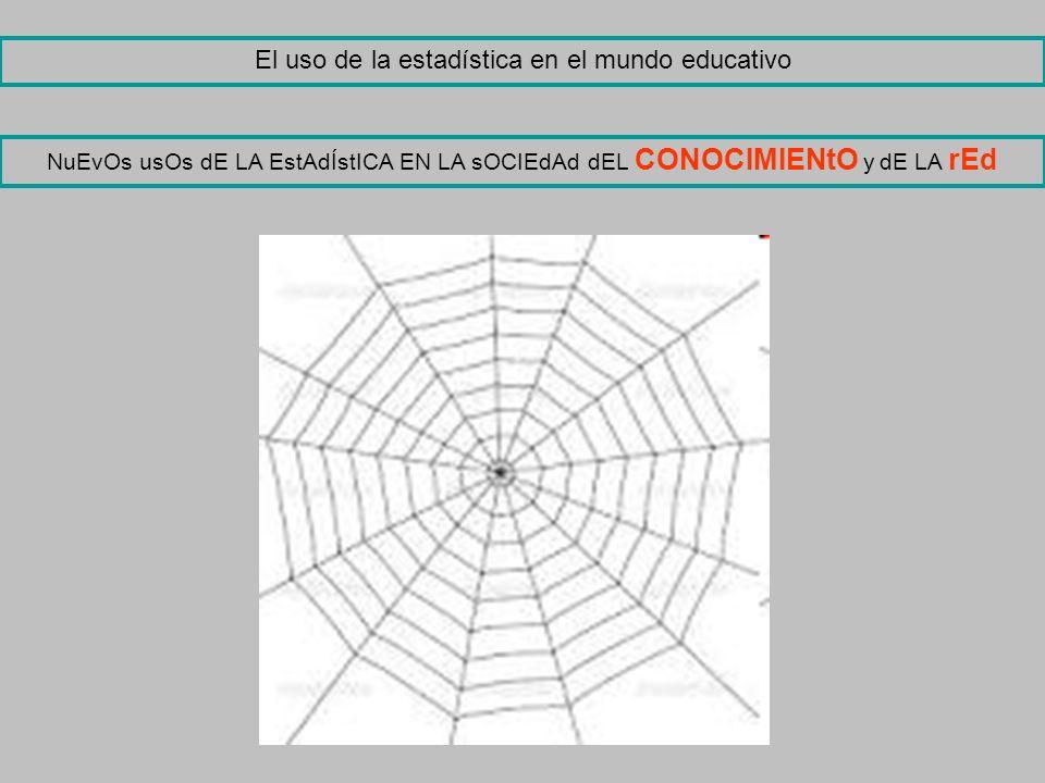 El uso de la estadística en el mundo educativo NuEvOs usOs dE LA EstAdÍstICA EN LA sOCIEdAd dEL CONOCIMIENtO y dE LA rEd
