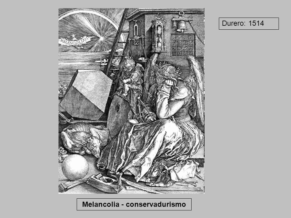 Melancolia - conservadurismo Durero: 1514