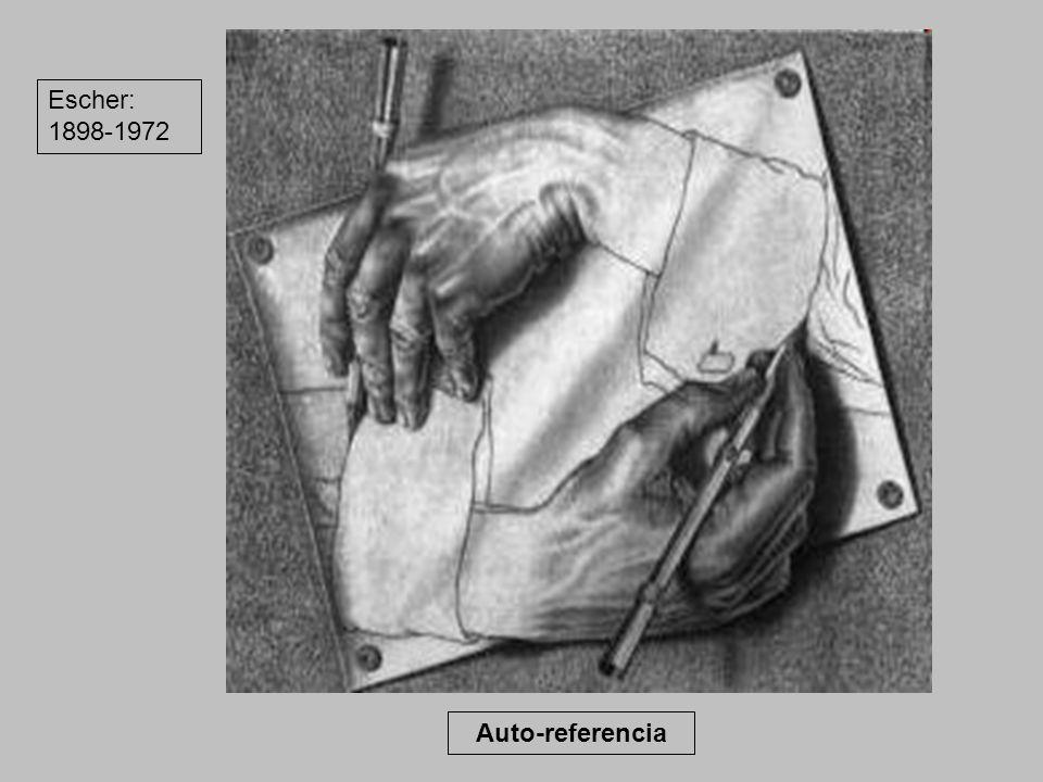 Auto-referencia Escher: 1898-1972