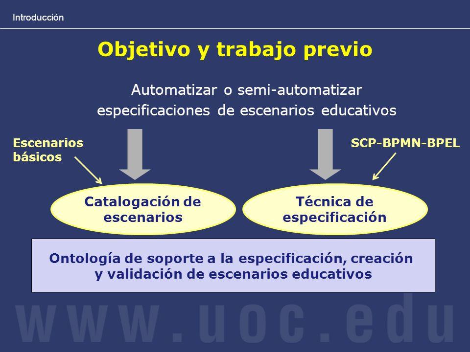 Introducción Ontologías en el ámbito del e-Learning LOM i LD usan ontologías.