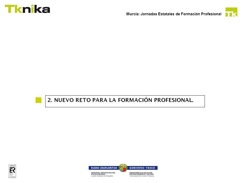 Murcia: Jornadas Estatales de Formación Profesional En época de crisis las empresas tienen otro tipo de problemas: Necesitan descubrir nuevos mercados.