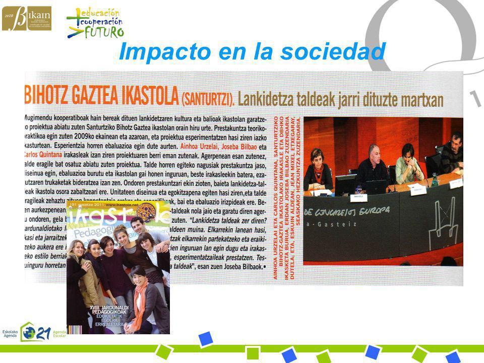 Bihotz Gaztea Ikastola Impacto en la sociedad