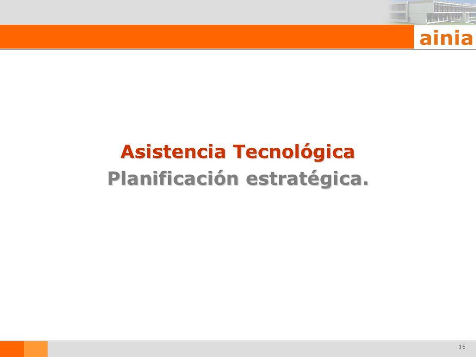 16 Asistencia Tecnológica Planificación estratégica.