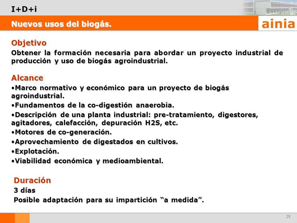 25 Objetivo Obtener la formación necesaria para abordar un proyecto industrial de producción y uso de biogás agroindustrial. Nuevos usos del biogás. I