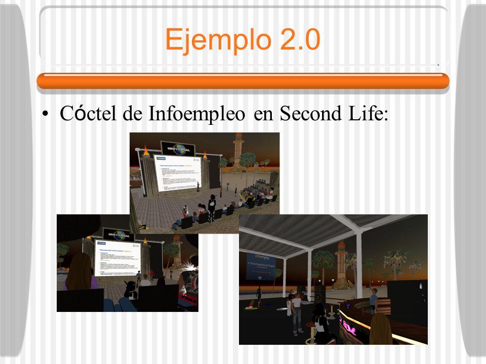 Ejemplo 2.0 C ó ctel de Infoempleo en Second Life: