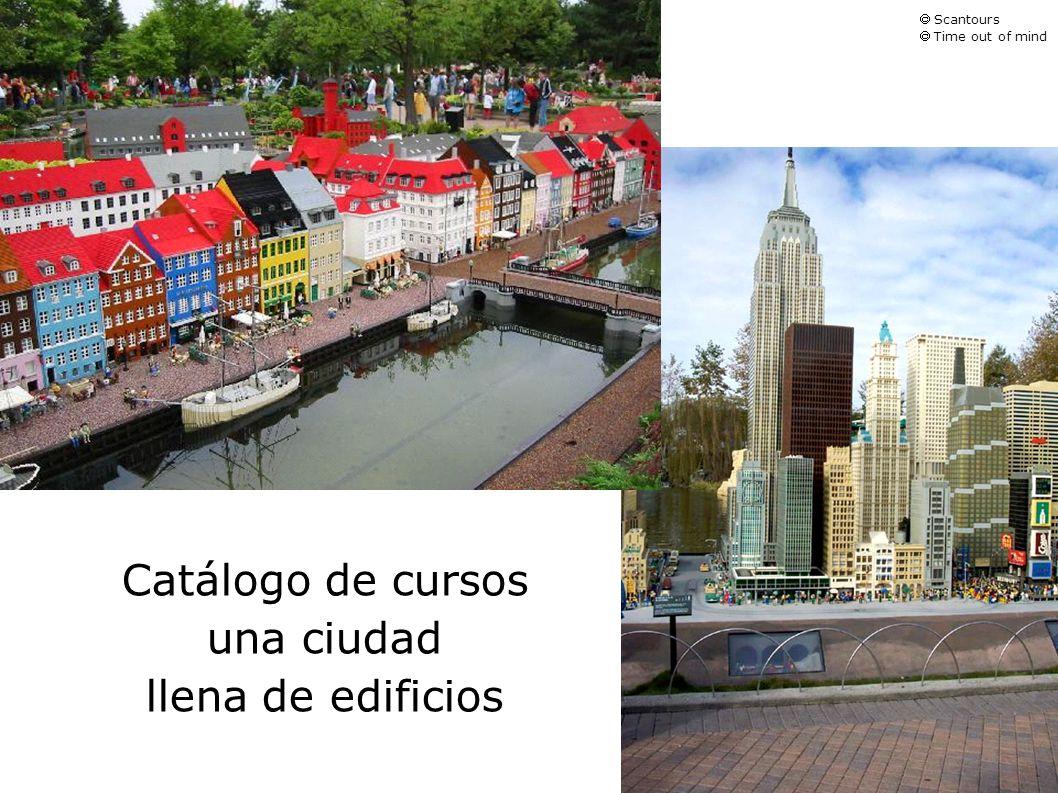Catálogo de cursos una ciudad llena de edificios Scantours Time out of mind