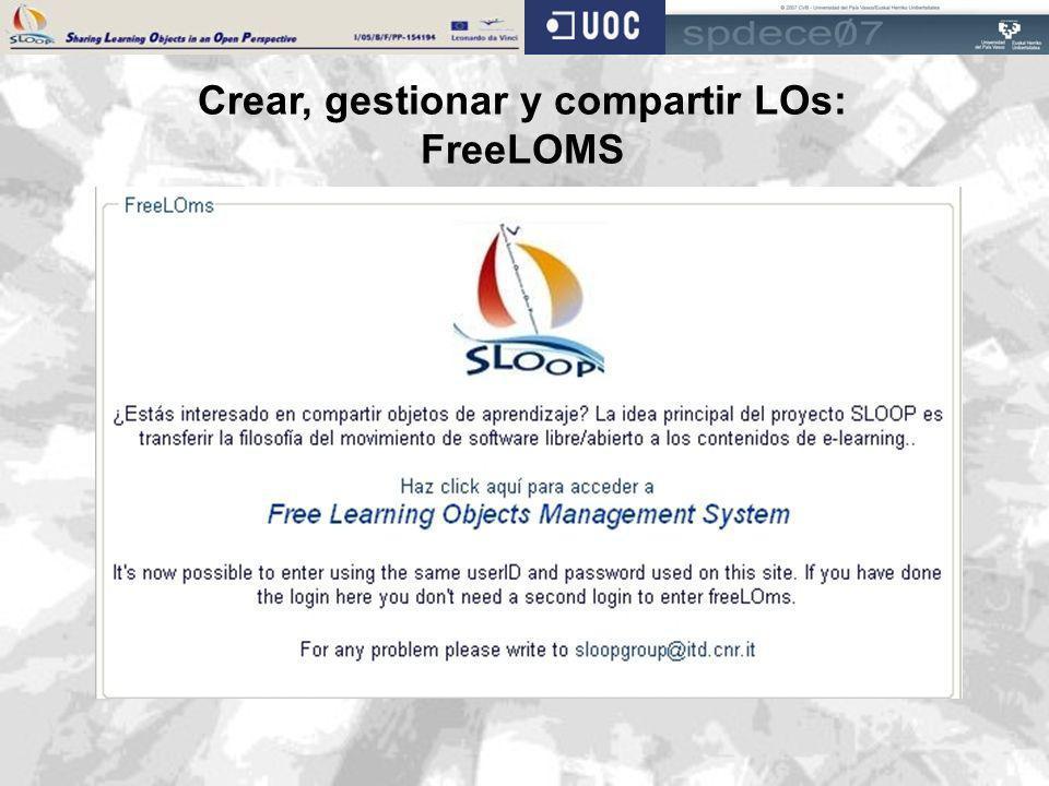 Crear, gestionar y compartir LOs: FreeLOMS