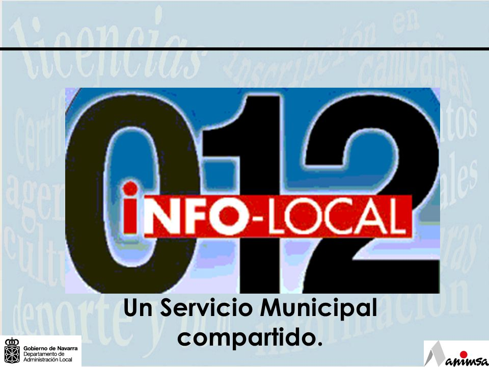 Un Servicio Municipal compartido.