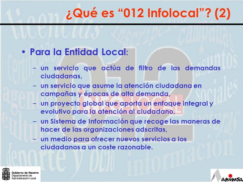 Para la Entidad Local : – un servicio que actúa de filtro de las demandas ciudadanas, – un servicio que asume la atención ciudadana en campañas y époc