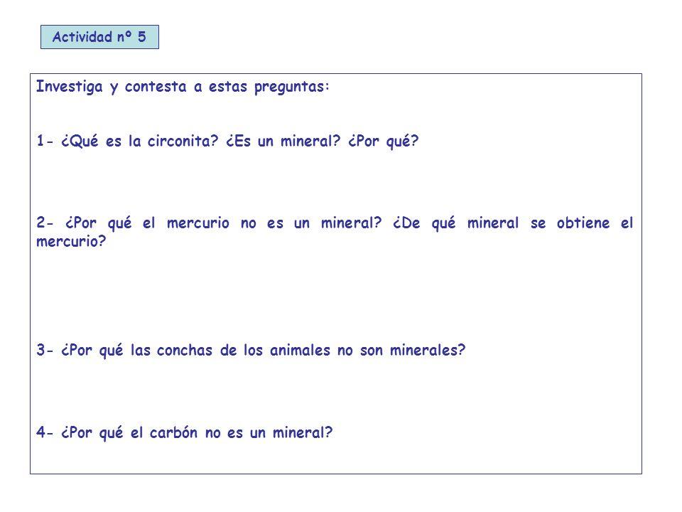 Investiga y contesta a estas preguntas: 1- ¿Qué es la circonita.