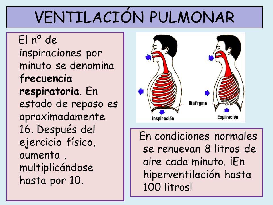 La demanda de oxígeno en el cuerpo es variable, por ejemplo, en condiciones de ejercicio físico aumenta.