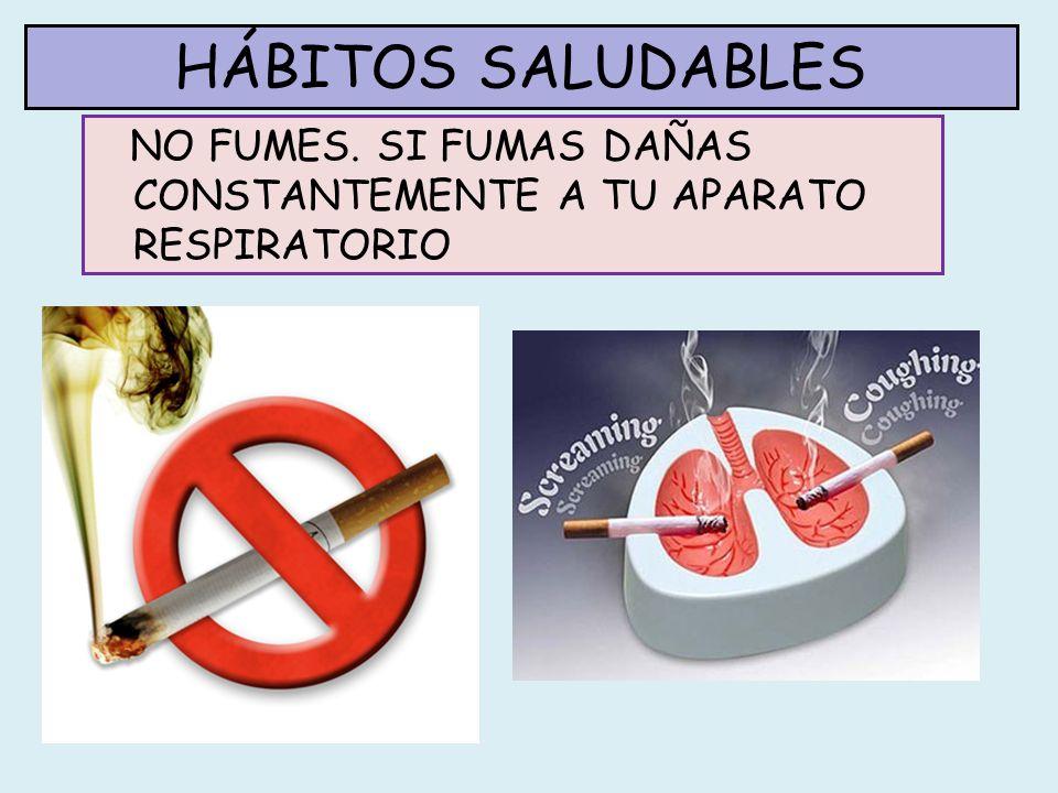 HÁBITOS SALUDABLES EL TABACO CONTIENE UNAS 20 SUSTANCIAS NOCIVAS PARA LA SALUD, ALGUNAS DE ELLAS POTENTES CANCERÍGENOS.