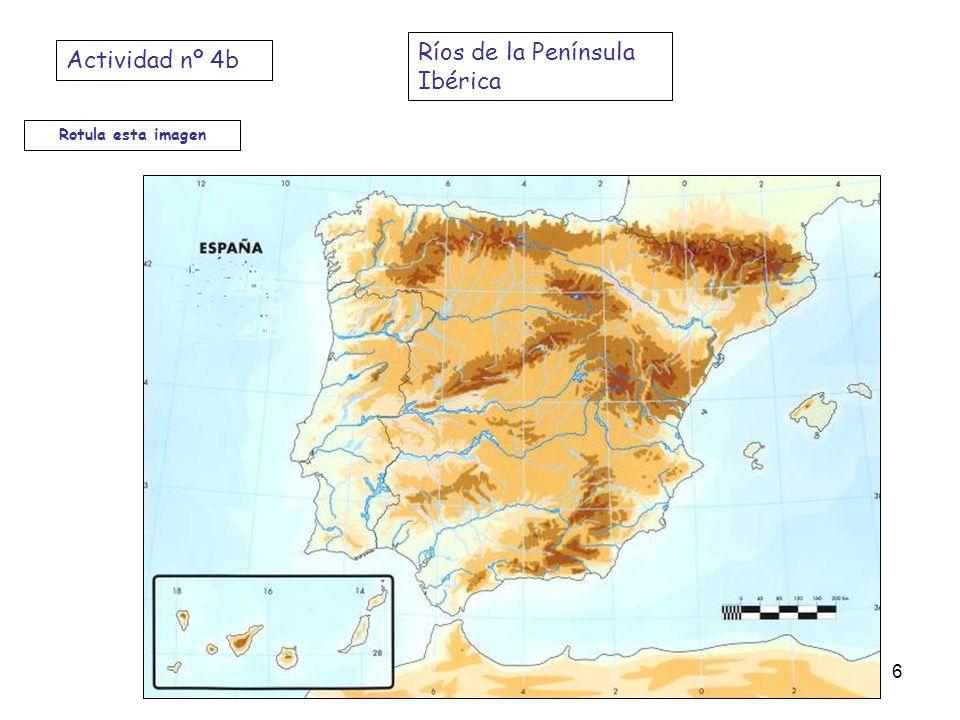 Rotula esta imagen Ríos de la Península Ibérica Actividad nº 4b 6
