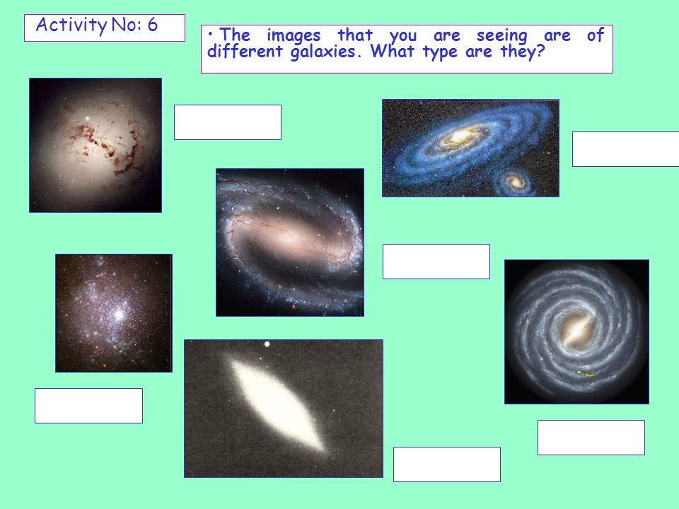 Activity No: 7 Read the following text: The universe contains millions of stars.