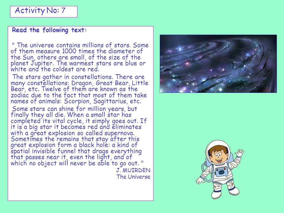 Registro de datos astronómicos En los periódicos puedes encontrar datos astronómico muy interesantes.