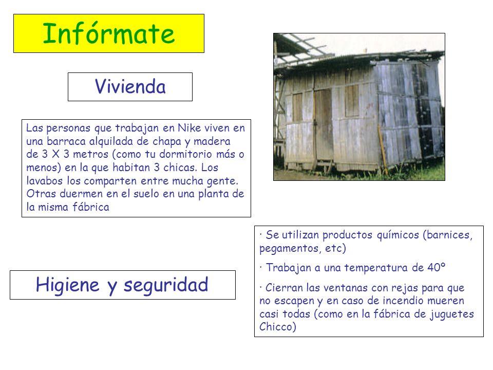 Infórmate Vivienda Las personas que trabajan en Nike viven en una barraca alquilada de chapa y madera de 3 X 3 metros (como tu dormitorio más o menos)