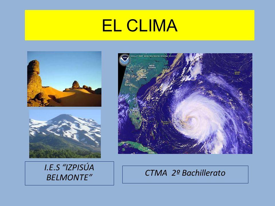 EL CLIMA I.E.S IZPISÚA BELMONTE CTMA 2º Bachillerato