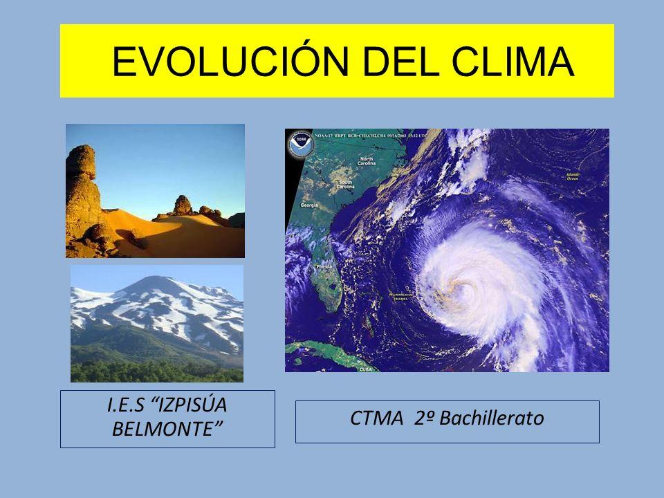 El CLIMA EN EL PASADO FACTORES ASTRONÓMICOS La oblicuidad del eje de rotación terrestre varía desde 21,6 a 24,5º con una periodicidad de 41000 años.