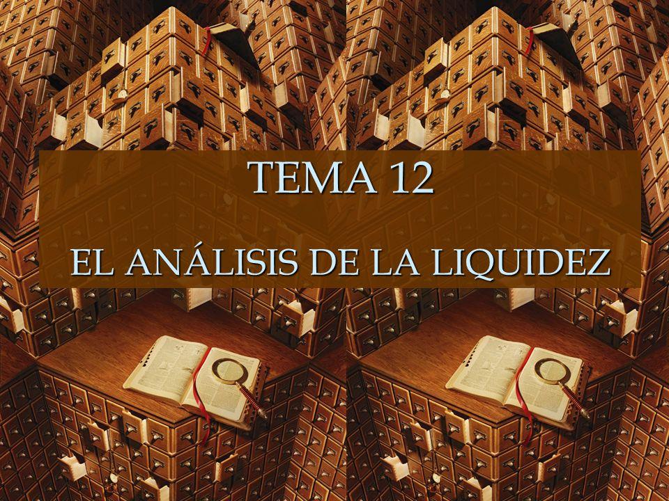 TEMA 12 EL ANÁLISIS DE LA LIQUIDEZ