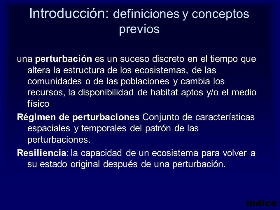 Introducción: definiciones y conceptos previos una perturbación es un suceso discreto en el tiempo que altera la estructura de los ecosistemas, de las