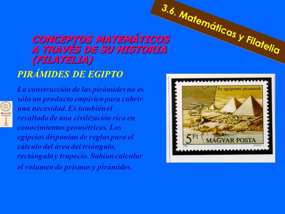 3.6. Matemáticas y Filatelia a) Punto de vista histórico b) Punto de vista de contenidos c) Punto de vista interdisciplinar 3.6. Matemáticas y Filatel